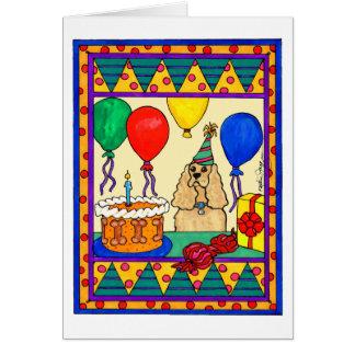 BIRTHDAY COCKER GREETING CARDS