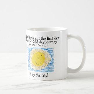 BIRTHDAY Coffee Mugs, 365 Journey around sun Classic White Coffee Mug
