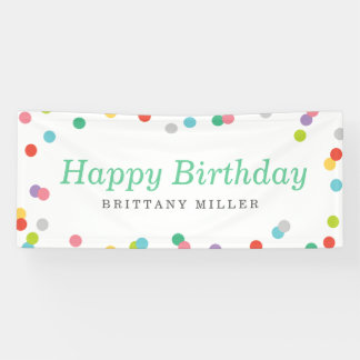 Birthday Confetti Banner