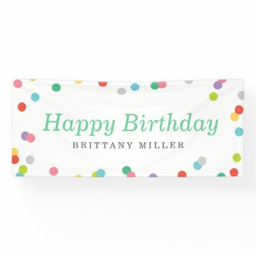 birthday Birthday Confetti Banner