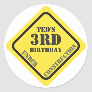 Birthday Construction Sticker