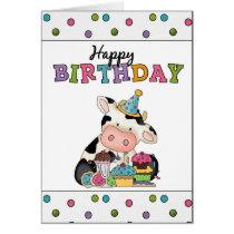 Birthday Cow Greeting card