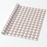 Birthday cow pattern wrapping paper