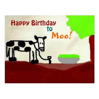 Birthday cow Postcard