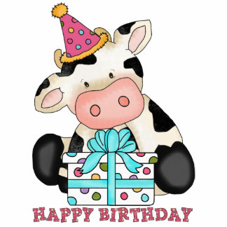 Birthday Cow sculpture Cut Outs
