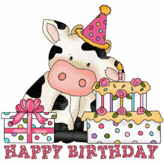Birthday Cow sculpture Cut Out
