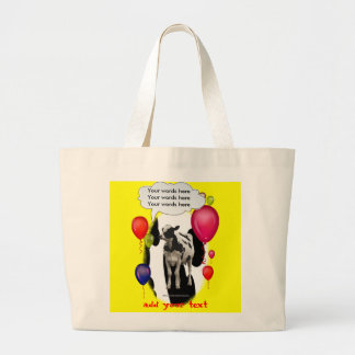 Birthday Cow Theme Party Canvas Bags