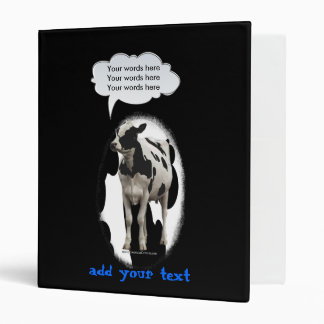 Birthday Cow Theme Party 3 Ring Binder