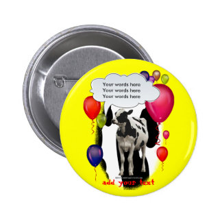 Birthday Cow Theme Party 2 Inch Round Button