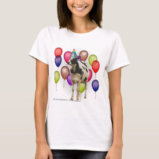 Birthday Cow Theme Party T-Shirt