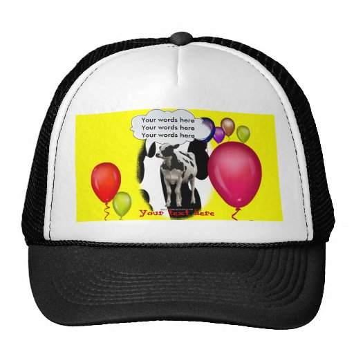Birthday Cow Theme Party Trucker Hat