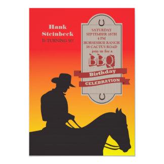 Birthday Cowboy Invitation