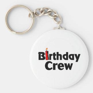 Birthday Crew Keychain