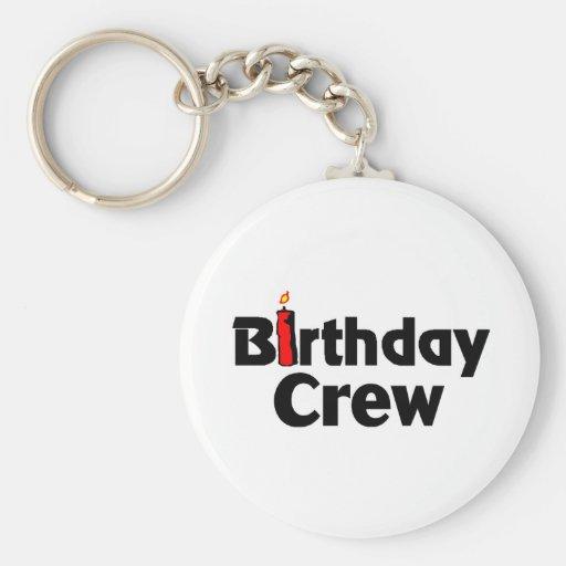 Birthday Crew Keychains