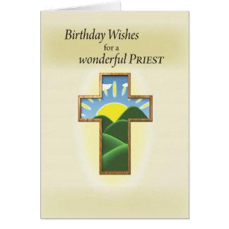 Birthday Cross Priest Card