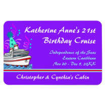 Birthday Cruise Custom Stateroom Door Marker Magnet