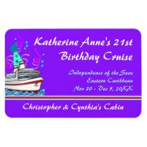 Birthday Cruise Custom Stateroom Door Marker Magnet