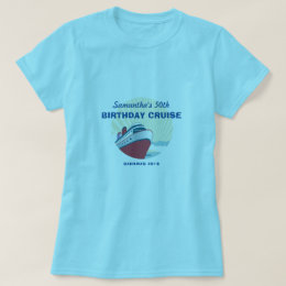 Birthday Cruise vacation with vintage cruise ship T-Shirt