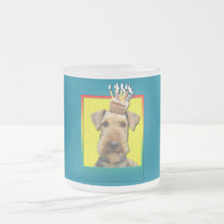 Birthday Cupcake - Airedale Frosted Glass Coffee Mug