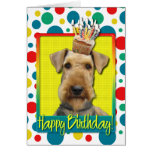 Birthday Cupcake - Airedale Greeting Cards