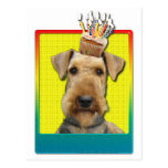 Birthday Cupcake - Airedale Postcard