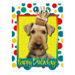Birthday Cupcake - Airedale Postcards