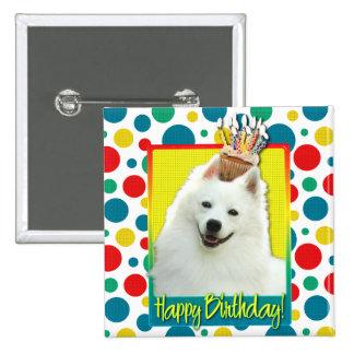 Birthday Cupcake - American Eskimo Pinback Button