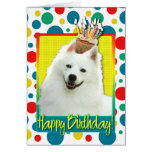 Birthday Cupcake - American Eskimo Card