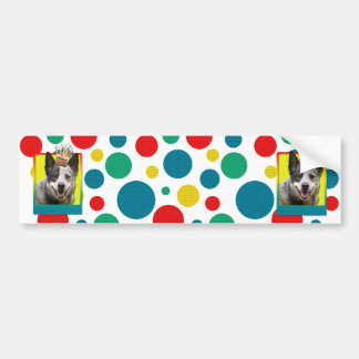 Birthday Cupcake - Australian Cattle Dog Bumper Sticker