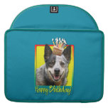 Birthday Cupcake - Australian Cattle Dog Sleeves For MacBook Pro
