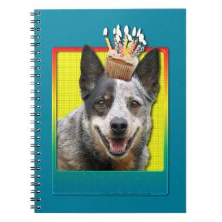 Birthday Cupcake - Australian Cattle Dog Notebook