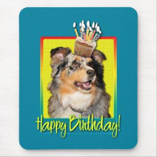 Birthday Cupcake - Australian Shepherd - Dustine Mouse Pad
