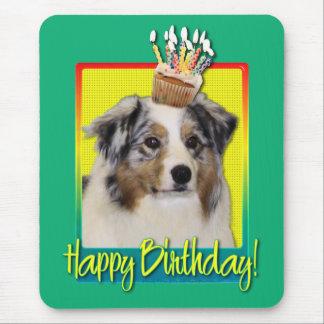 Birthday Cupcake - Australian Shepherd Mouse Pad