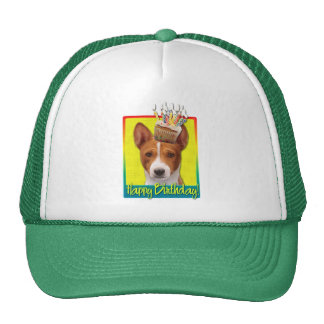 Birthday Cupcake - Basenji Trucker Hat