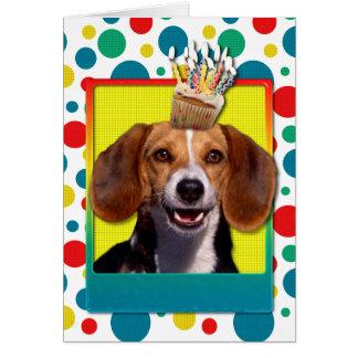 Birthday Cupcake Beagle Card