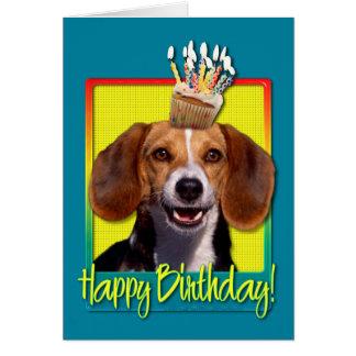 Birthday Cupcake Beagle Greeting Cards