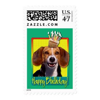 Birthday Cupcake - Beagle Postage