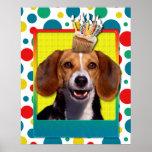 Birthday Cupcake - Beagle Poster