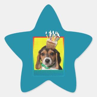 Birthday Cupcake - Beagle Puppy - Chloe Star Sticker