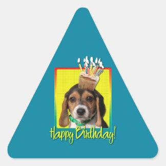 Birthday Cupcake - Beagle Puppy - Chloe Stickers