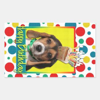 Birthday Cupcake - Beagle Puppy - Chloe Sticker