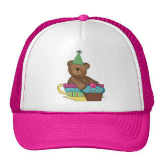 Birthday Cupcake Bear Trucker Hat