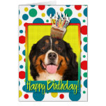 Birthday Cupcake - Bernese Mountain Dog Card