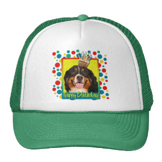 Birthday Cupcake - Bernese Mountain Dog Trucker Hat