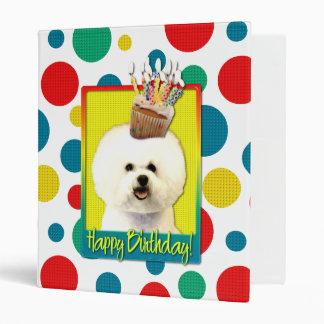 Birthday Cupcake - Bichon Frise Binder