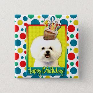 Birthday Cupcake - Bichon Frise Button