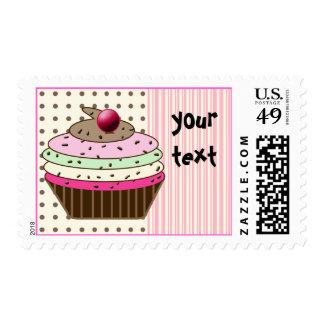 Birthday Cupcake - birthday girl Postage
