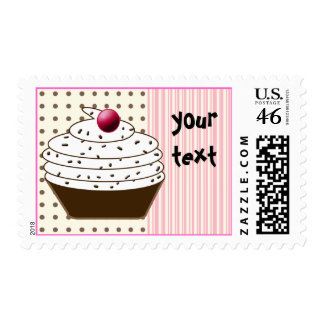 Birthday Cupcake - birthday girl Stamps