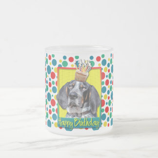 Birthday Cupcake - Bluetick Coonhound - Chuck 10 Oz Frosted Glass Coffee Mug