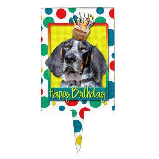 Birthday Cupcake - Bluetick Coonhound - Chuck Cake Pick